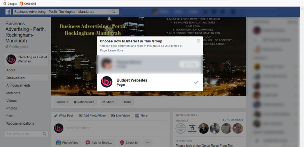 How to use Business Page to interact in Facebook Groups for visibility